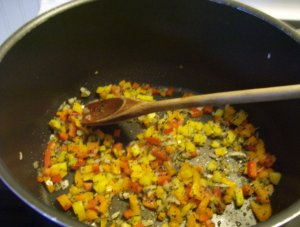 bell pepper and onion mixture
