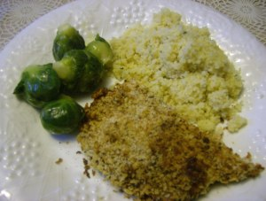 Panko, Parmesan crusted chicken breast