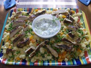 Greek Chicken Salad with homemade Tzatziki sauce