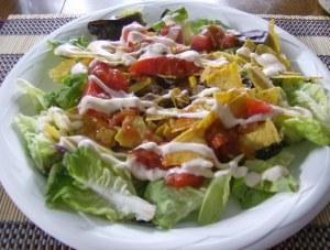 Her taco salad