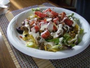 His taco salad